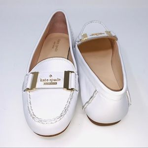 Kate Spade Colette Gold White size 7 Loafers Flats